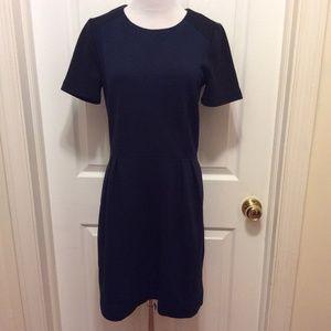Madewell Dress 6 Dark Blue Black Textured